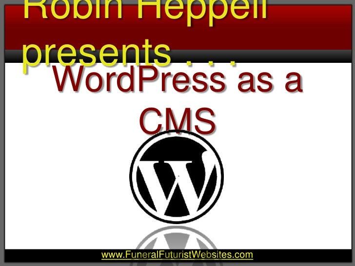 WordPress as a CMS<br />
