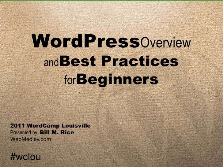WordPress best practices by billrice