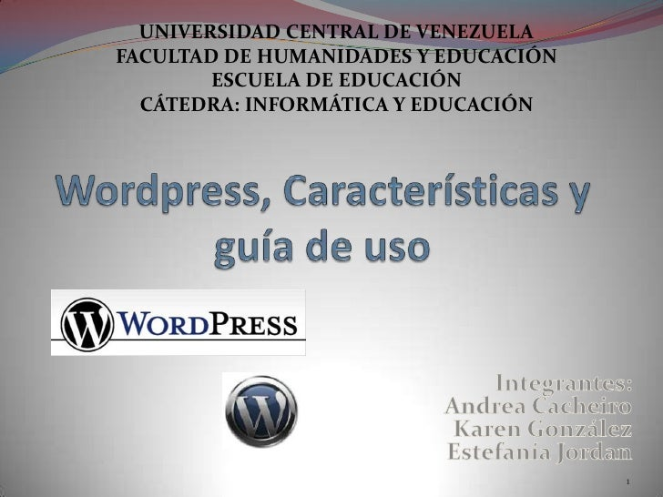Wordpress, características y guía de uso