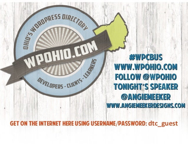 Dissecting WordPress Themes and Page Templates, WordPress Columbus Meetup