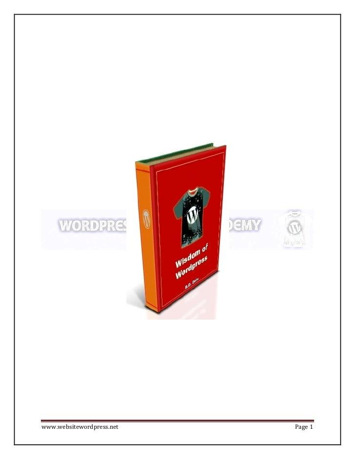 www.websitewordpress.net   Page 1