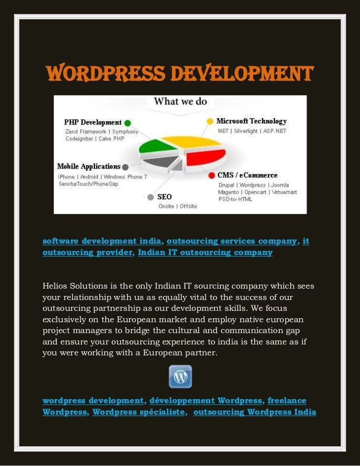 Wordpress developmentsoftware development india, outsourcing services company, itoutsourcing provider, Indian IT outsourci...
