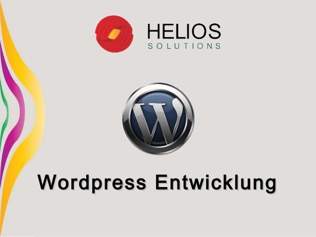 Wordpress EntwicklungWordpress Entwicklung