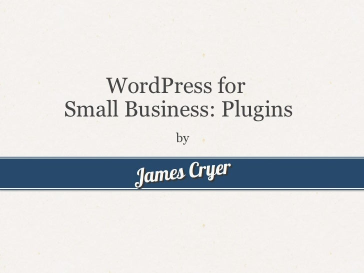 WordPress for Small Business Plugins