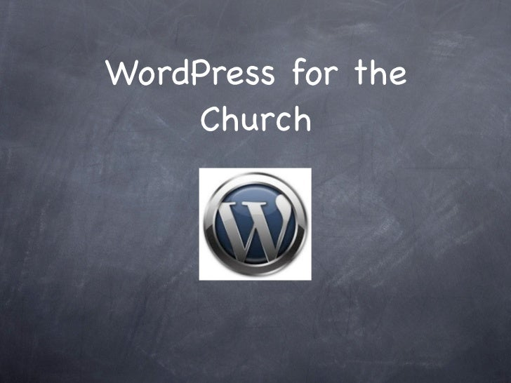 Word press for the church