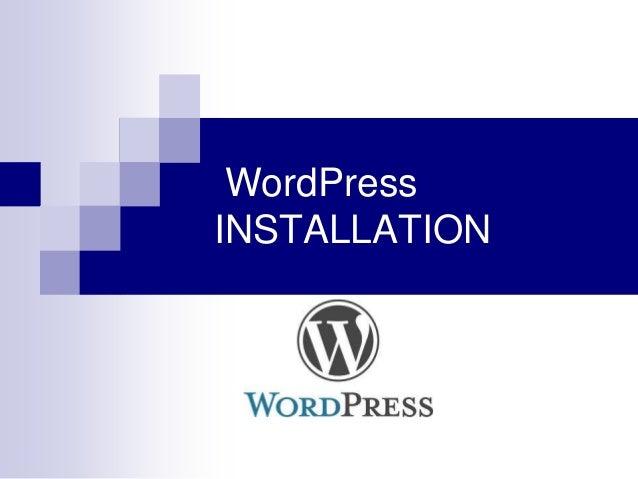 Word pressinstallation