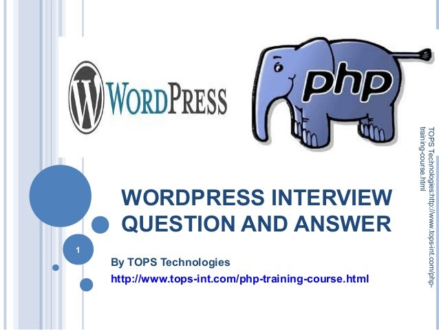 Word press interview question and answer   tops technologies