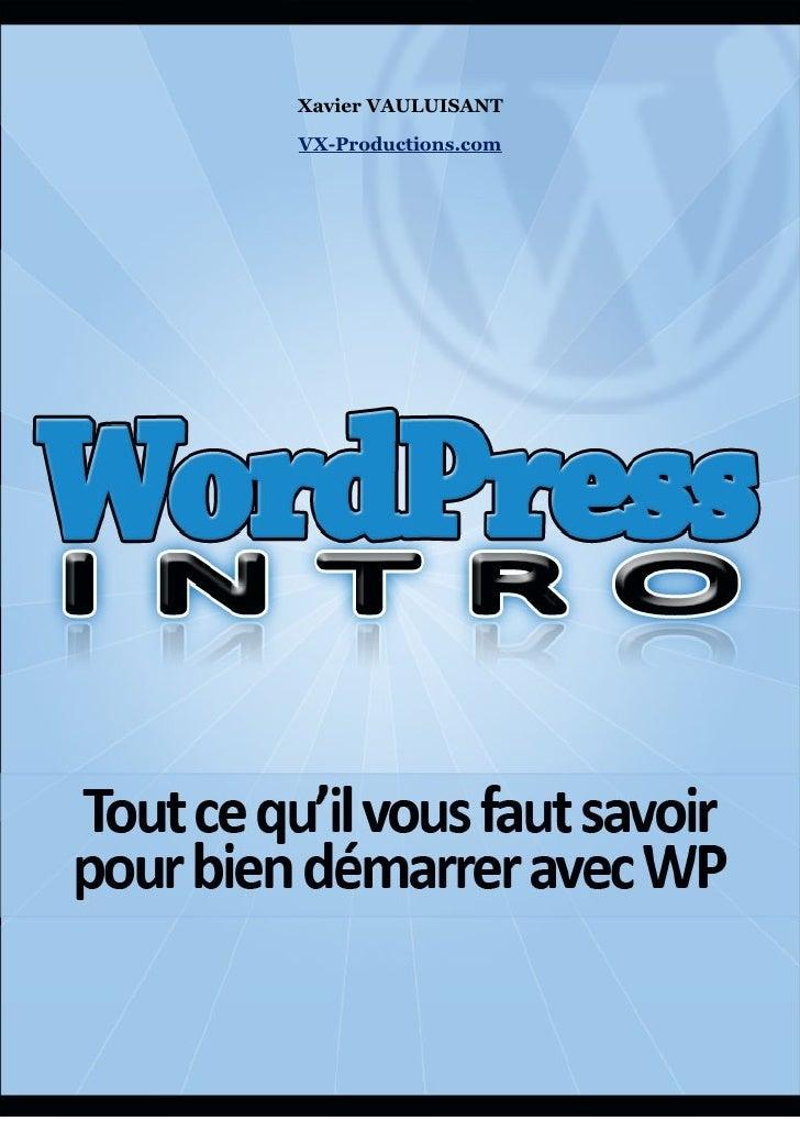 Word Press Intro