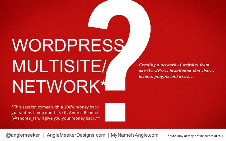 WORDPRESS  MULTISITE/                                        Creating a network of websites from                          ...