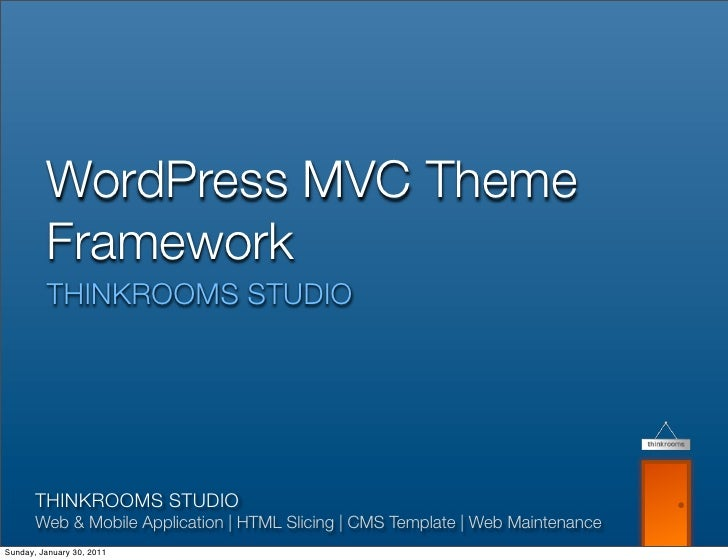 WordPress MVC Theme Framework THINKROOMS STUDIOTHINKROOMS STUDIOWeb & Mobile Application | HTML Slicing | CMS Template | W...