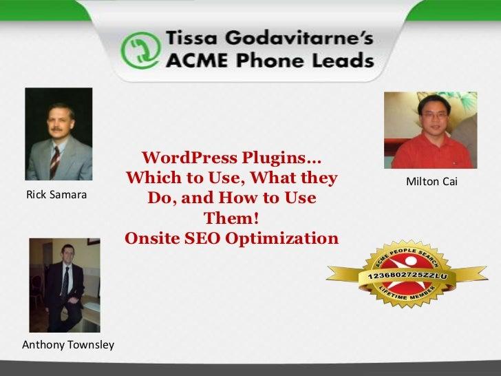 WordPress Plugins: Basic Onsite SEO Techniques