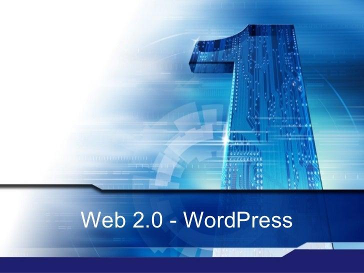 Web 2.0 - WordPress