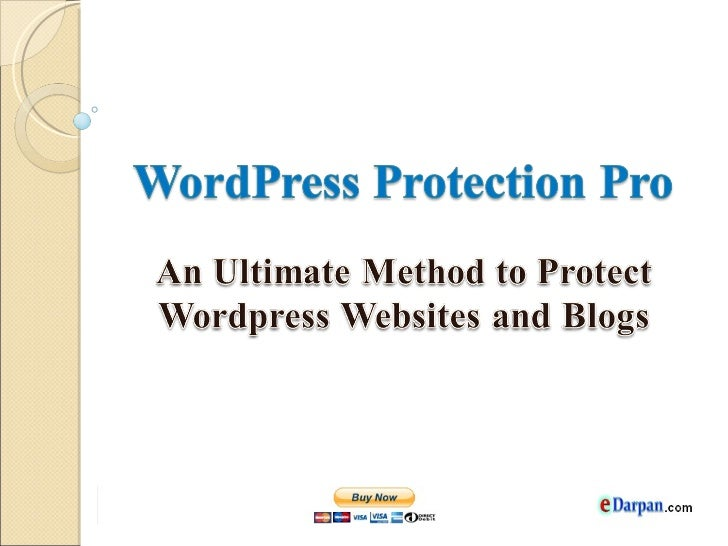 WordPress Protection ProWordPress Protection Pro is a wordpress security plugin,which applies full protection on wordpress...