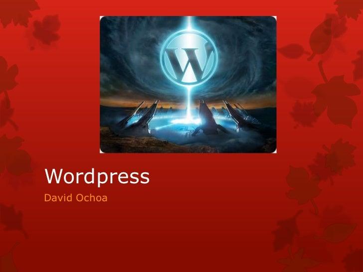 WordpressDavid Ochoa