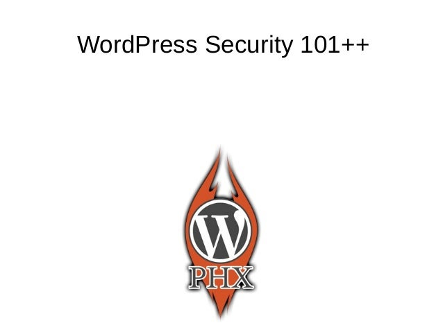 WordPress Security 101++