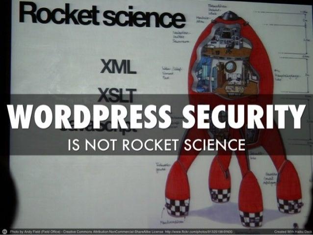 WordPress Security Is Not Rocket Science