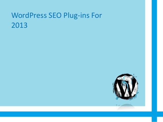 Wordpress SEO Plugins for 2013