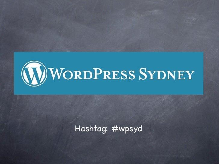 Hashtag: #wpsyd
