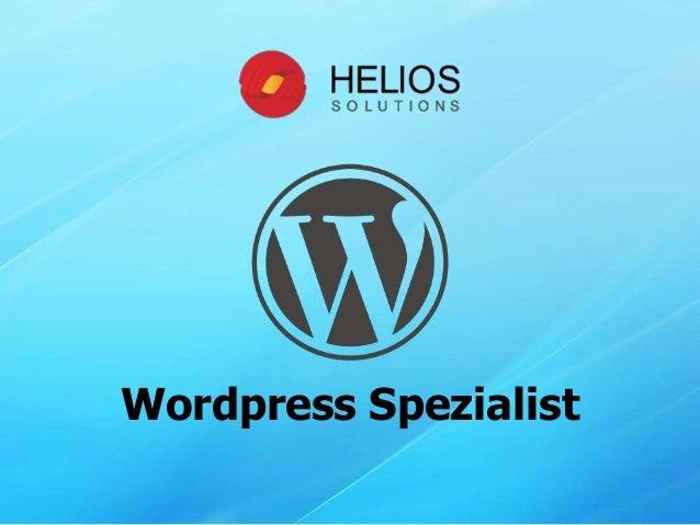 Wordpress Spezialist