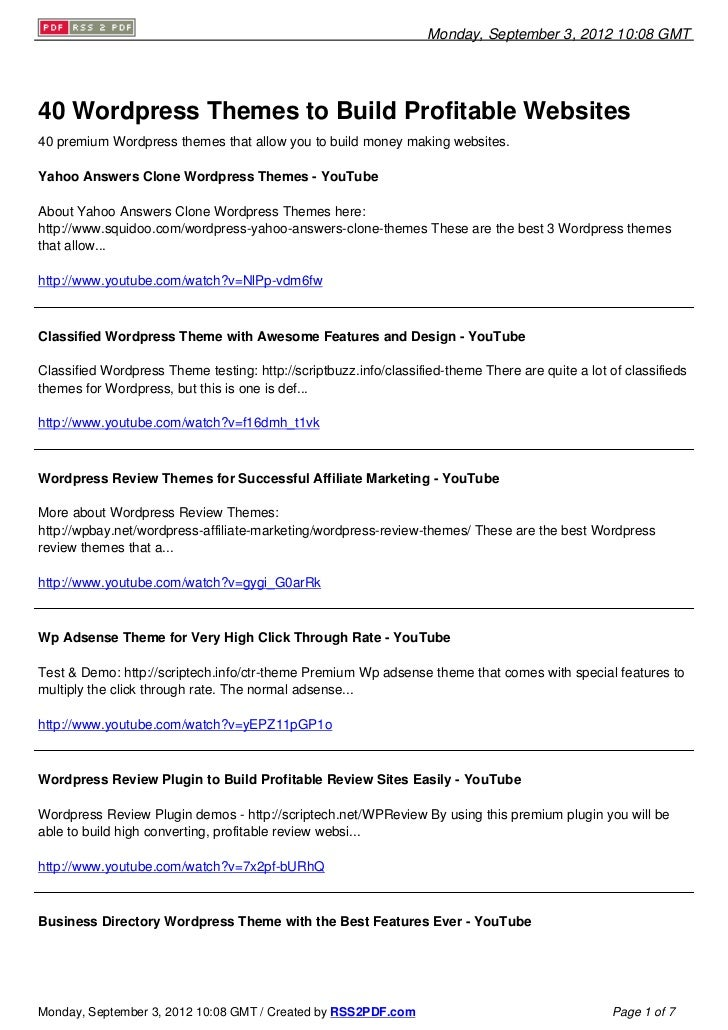 Wordpress Themes To Make Money Online