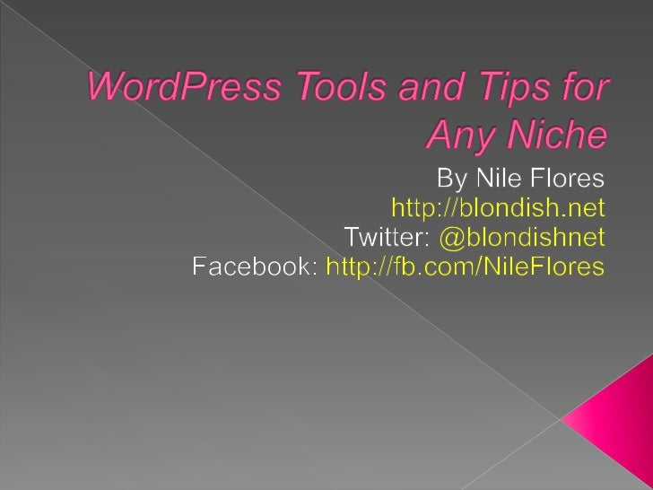  Share tips to help your site on its way Share some resources/ tools to help give  your site a leg up Inspire you to th...