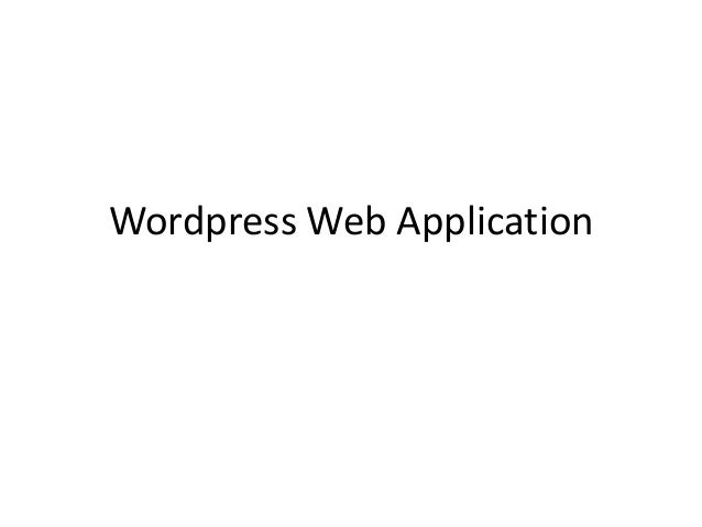 Wordpress web application 1