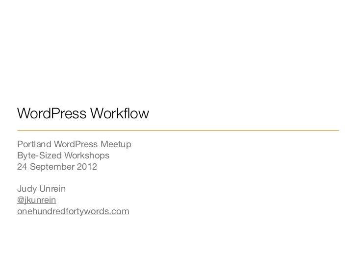 WordPress WorkFlow