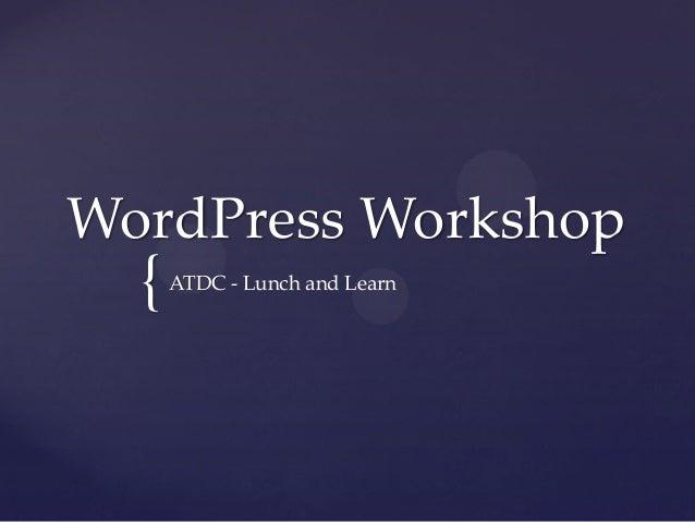 Word press workshop   powerpoint