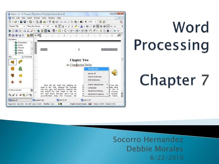 Word processing chapter 7