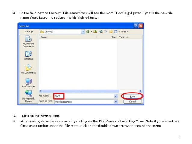 Word File Type in The New File Name Word