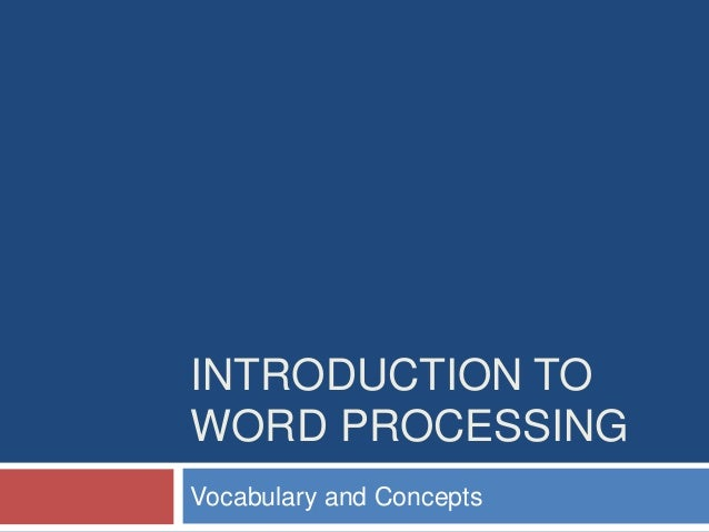 an introduction to the analysis of word processing 2017-11-17  introduction to natural language processing r kibble co3354  computational tools for text analysis          9  25 word structure.