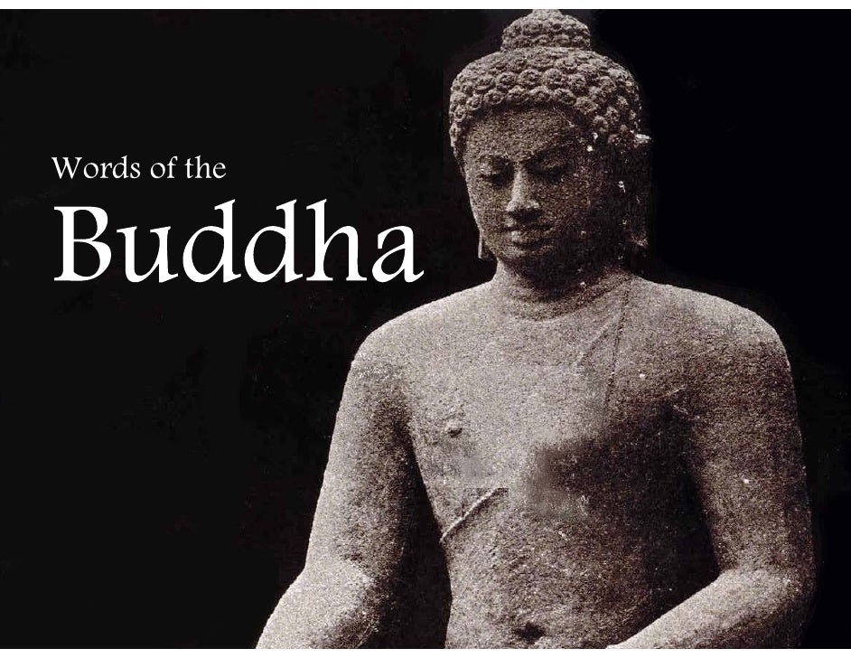 Words Of The Buddha