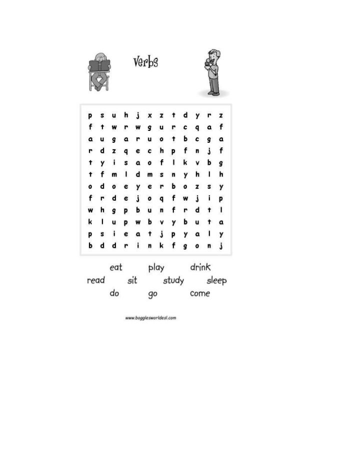 Wordsearch verbs