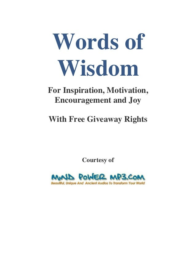 Words ofwisdom1