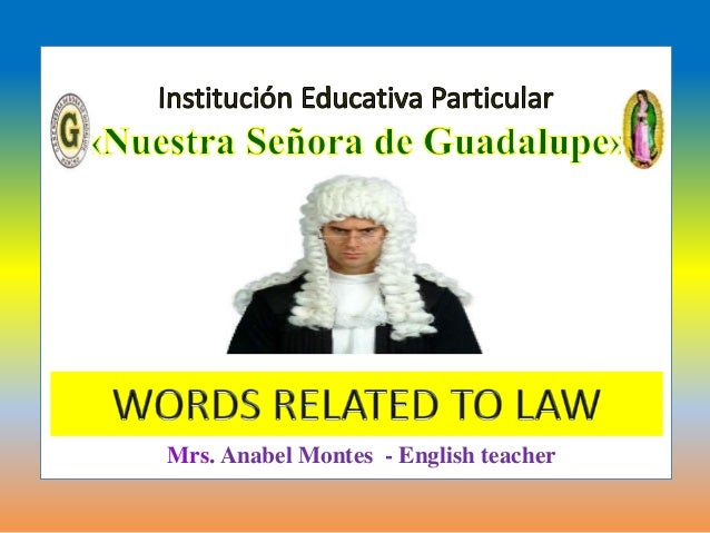 Words related to law