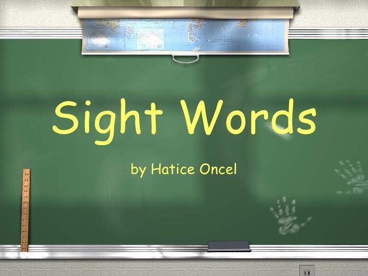 Words Slide
