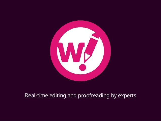 Wordy.com Real-time editing and proofreading by experts