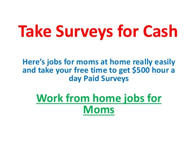 Work from home moms - Work from home jobs for moms