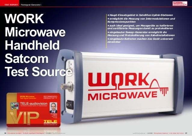 TEST REPORT  Testsignal-Generator  WORK Microwave Handheld Satcom Test Source  96 TELE-audiovision International — The Wor...