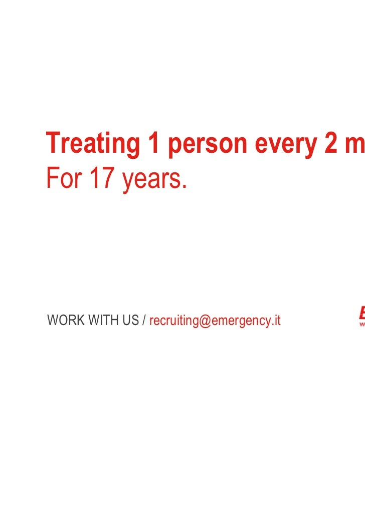 Treating 1 person every 2 minutes.For 17 years.WORK WITH US /