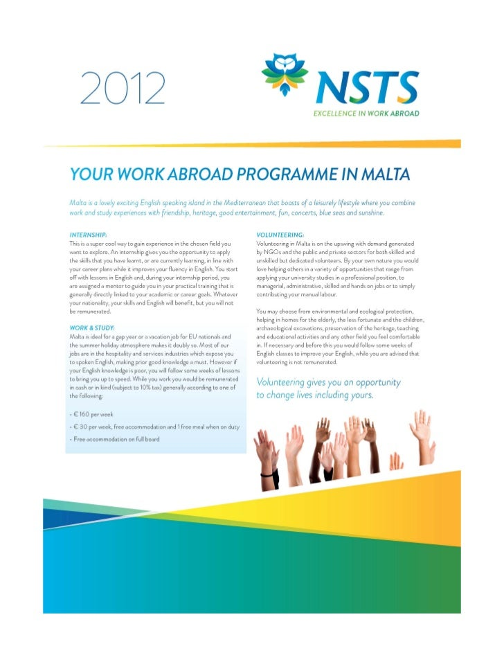 Work abroad2012new