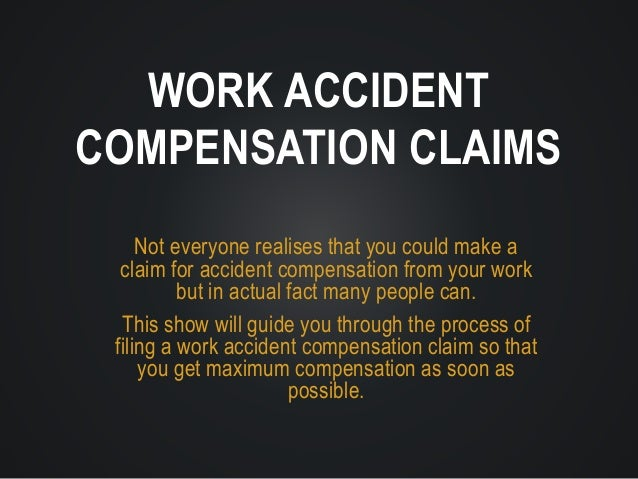 Not everyone realises that you could make a claim for accident compensation from your work but in actual fact many people ...