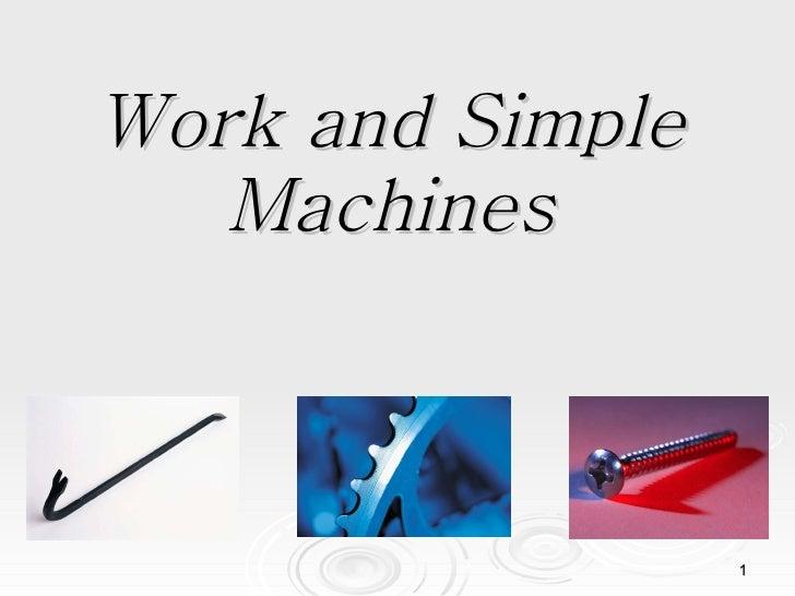Workandsimplemachines