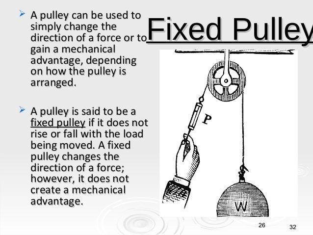 How Does A Pulley Make Work Easier : Work and simple machines