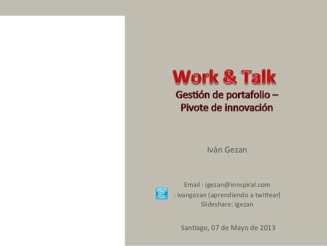 Work and Talk: Gestión de Portafolio
