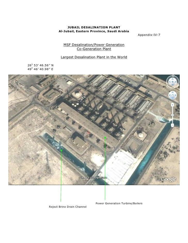 JUBAIL DESALINATION PLANT                     Al-Jubail, Eastern Province, Saudi Arabia                                   ...