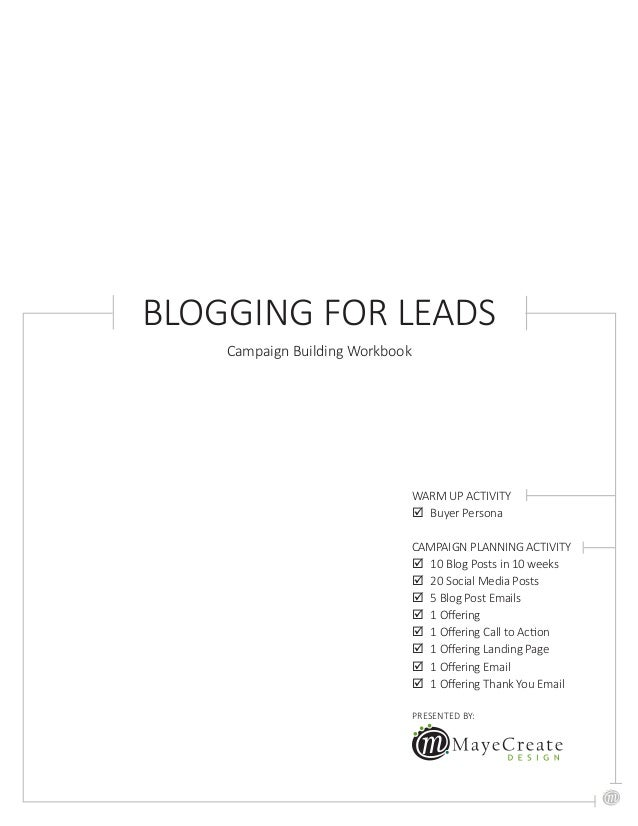 Blogging for Leads Workbook