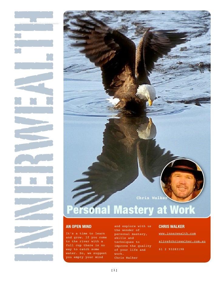 INNERWEALTH                                                Chris Walker                 Personal Mastery at Work          ...