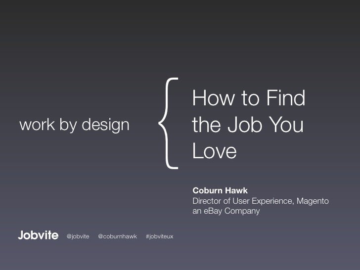 work by design                                {           How to Find                                            the Job Y...