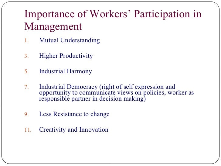 workers participation in management in india International labour office (ilo) dialogue participation in india today: national seminar on workers' participation in management held in delhi under the.